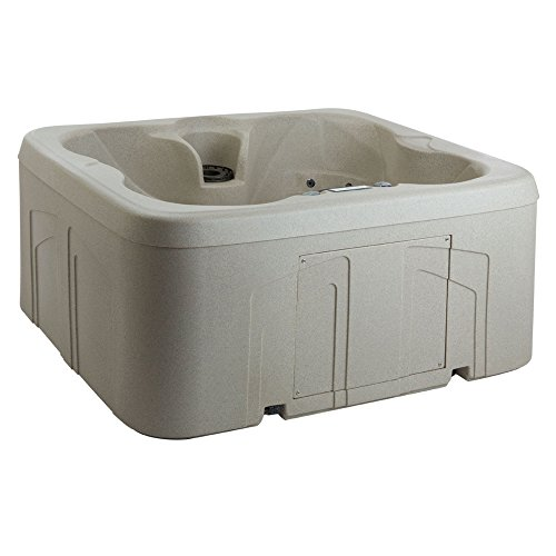 (Lifesmart Rock Solid Simplicity Plug and Play 4 Person Hot Tub Spa With 13 Jets)