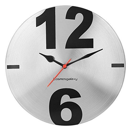 Cosmos Galaxy Big Time Steel Wall Clock (Silver/Black)