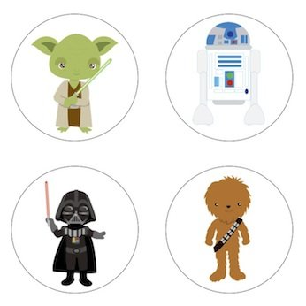 Star Wars Inspired Edible Cupcake Toppers Decoration ()