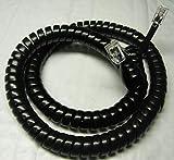 Lot of 25 Glossy Black 12' Ft Handset Cords for Shoretel 100 200 500 Series IP Phone 110 115 210 212 212K 230 230G 530 560 560G 565 565G SIA SEV (25-Pack) by DIY-BizPhones