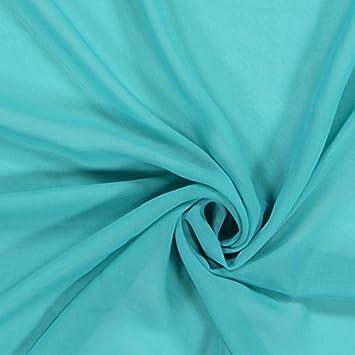 Fabulous Fabrics Chiffon Stoff Türkis – Weicher Chiffon Stoff zum Nähen von  Kleider, Blusen, 9804c10acb