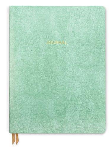 DesignWorks Ink Leather Bound Flex Personal Journal, 6 x 8-Inches, Celedon