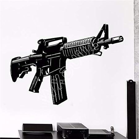 Calcomanía de Pared de Vinilo Pistola automática Arma ...