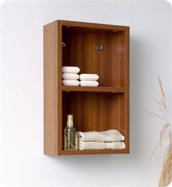 Area Linens (Fresca Bath FST8092TK Bathroom Linen Side Cabinet with 2 Open Storage Area, Teak)