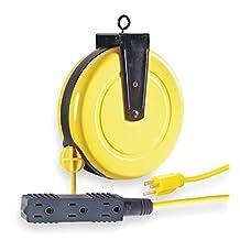 LumaPro 1A136 Cord Reel, Auto Retract by LumaPro