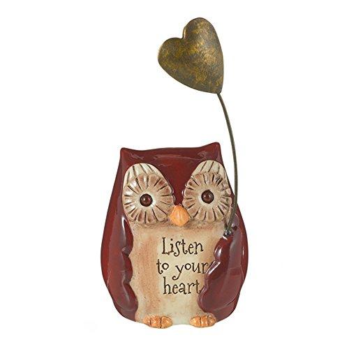 Grasslands Road Mini Inspirational Owl Figurine 470792 Listen To Your Heart