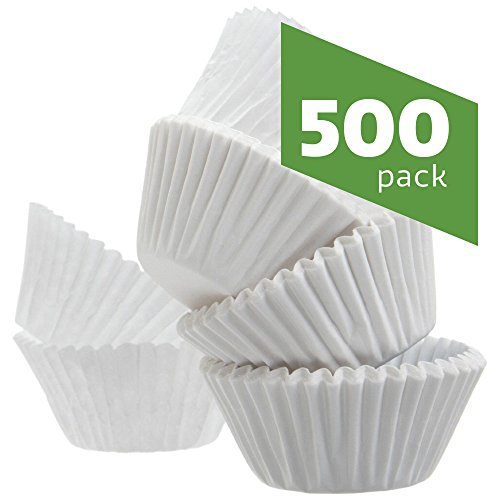 Standard Size White Cupcake Paper | Baking Cups | Muffin Cup Liners, Pack of 500