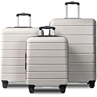 Romatpretty Abs Material Travel Spinner Luggage Suitcase Set (20
