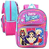 """DC Comics Super Hero Trio Girls """"Just Be Awesome"""" 3D Pop-Up 16"""" Backpack"""
