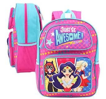 DC Comics Super Hero Trio Girls Just Be Awesome 3D Pop-Up 16 Backpack Ruz