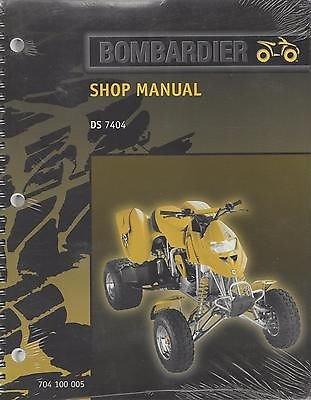 2000 Bombardier Atv Ds 7404 Shop Manual ()