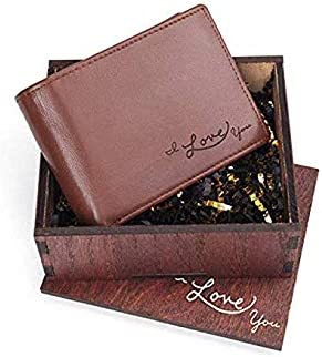 Personalized Handwriting Bi-fold Premium Leather Wallet for Men Great Gift for Him!