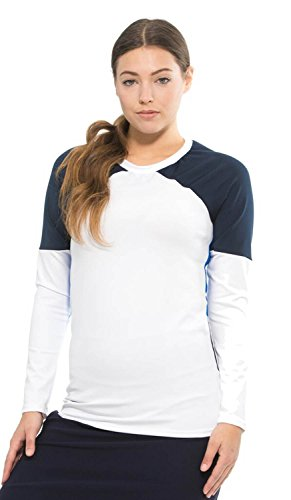 Undercover Activewear Ladies Blue Colorblock Top - Nc Outlet In Mall