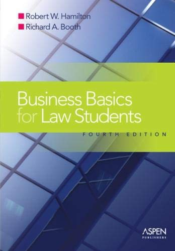 Business Basics for Law Students, Fourth Edition (Essentials)