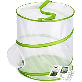 "RESTCLOUD Insect and Butterfly Habitat Cage Terrarium Pop-up 12"" x 14"" Tall"