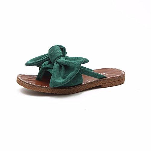 de Sur de Les Chaussons des Freinage pour green Sandales YUCH Sables Antidérapant Femmes Porter Accueil FP8Ttnxw