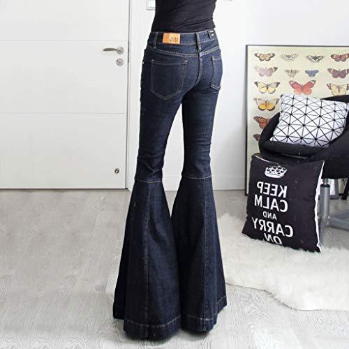 Haute Super RXF Taille Vintage 1 Femme Lache Slim Jeans Fishtail 8w8aZ