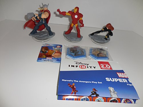 Disney Infinity: Marvel Super Heroes (2.0 Edition) MARVEL'S The Avengers Figure Pack Thor, Iron Man, Black Widow with 2 Power Disc and Web Card Code - Not Machine Specific