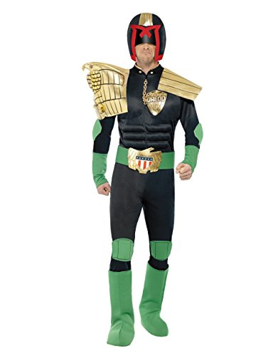 Judge Dredd Men's Costume The Law Outfit Chest Waist Inseam Medium (38-40