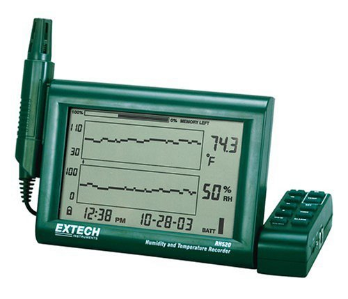 Extech RH520A-NIST Humidity and Temperature Chart Recorder with RS-232 Computer Interface and NIST by Extech
