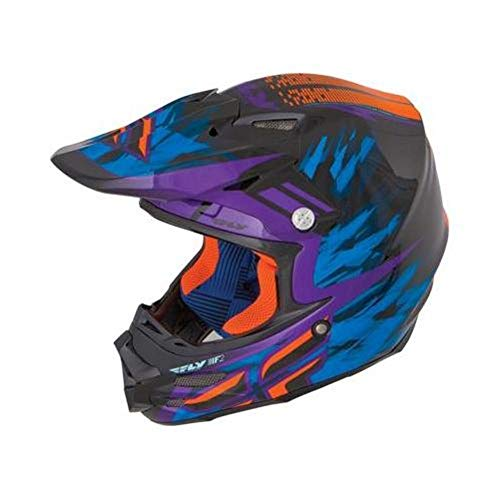 Fly Racing F2 Carbon Andrew Short Graphic Helmet Black/Purple/Orange (Blue, XX-Large)