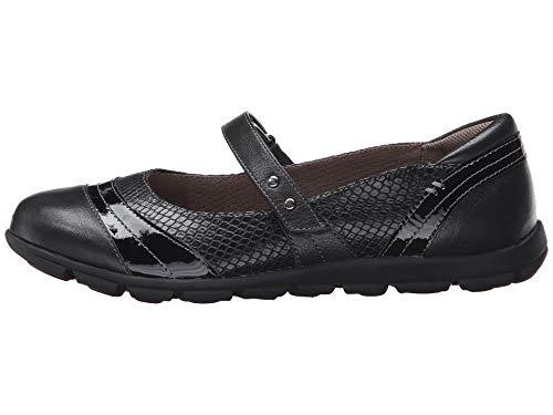 Comfortiva Womens Corwin Cap Toe Mary Jane Flats, Black, Size 7.5