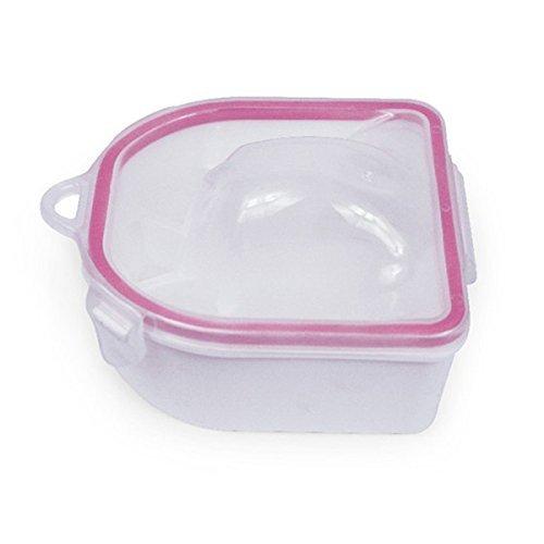 2pcs Portable Nail SPA Acetone-Resistant Soak Off Warm Water Bowls Manicure Nail Soak Bowls Manicure Tools