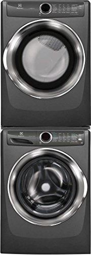 Electrolux Titanium Front Load Laundry Pair with EFLS527UTT 27″ Washer, EFMG527UTT 27″ Gas Dryer and STACKIT7X Stacking Kit