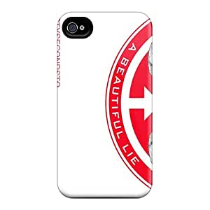 Shock-Absorbing Hard Phone Cases For Iphone 4/4s With Provide Private Custom Attractive 30 Seconds To Mars Band 3STM Image SherriFakhry