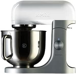 Kenwood kMix KMX50 - Robot de cocina, 500 W, capacidad de 5 l, 6 velocidades, 3 herramientas, color plateado y blanco: Amazon.es