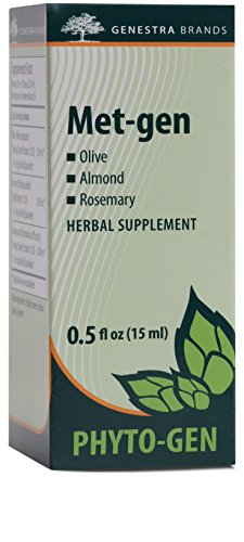 Genestra Brands – Met-gen – Olive, Almond, and Rosemary Herbal Supplement – 0.5 fl. oz.