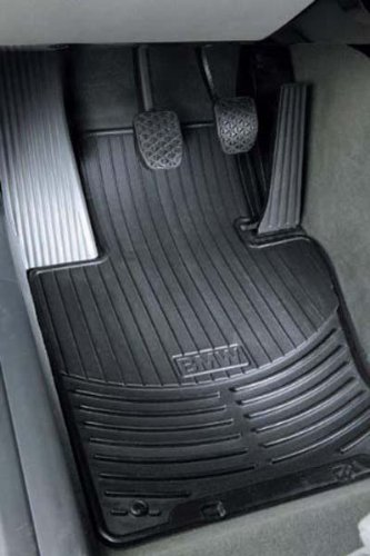 BMW Genuine Rubber Mat Black Front E46 Coupe Sedan Wagon