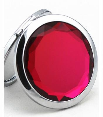 Compact Mirror, UTPTOOL Double Sides Portable Foldable Pocket Metal Makeup Compact Mirror Woman Cosmetic Mirror (Rose Red) by UTPTOOL