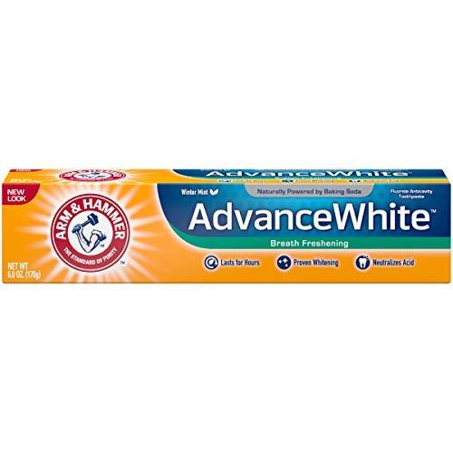 ARM & HAMMER Advance White Baking Soda Toothpaste, Winter Mint 6 oz (Pack of 6)