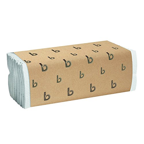 Boardwalk 6220 C-Fold Paper Towels, Bleached White, Pack of 200 Sheets (Case of 12 Packs) (2 X 12 PACKS) by Boardwalk