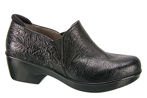 Naturalizer Women's Freeda Slip On Work Shoe,Black Tooled Leather,US 11 M Tooled Leather Shoes