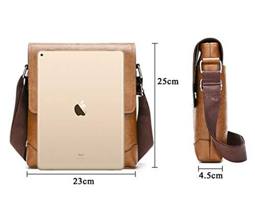 Vintage Borsa Borsa Ventiquattrore Skitor Uomo Messenger Fashion Tablet nbsp;tracolla Pochette Borse Grande Casual Marrone2 Multiuso Spalla Lavoro Junior Pelle q6A6C