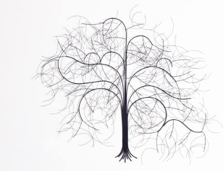 Fab Habitat Metal Wall Art D cor Modern Wall Art Eternity Yearning, 39 inch x 28 inch
