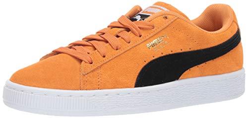 PUMA Men's Suede Classic Sneaker Orange pop Black, 14 M US