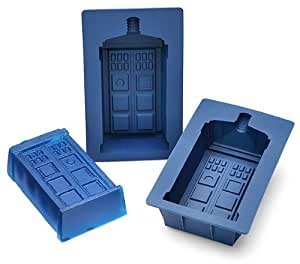 Doctor Who TARDIS Silicone Gelatin Mold Set of 2 - 1 cup size