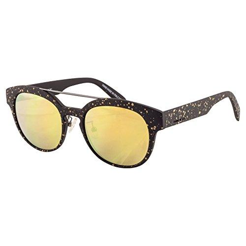 Italia Independent I-Plastik Drops Sunglasses Black/Gold Frame & Gold - Sunglasses Italia Independent