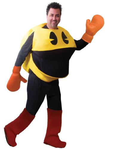 [Toynk Toys Costumes PacMan Deluxe Costume, One-Size, 1 ea (Standard)] (Pac Man Halloween Costumes)