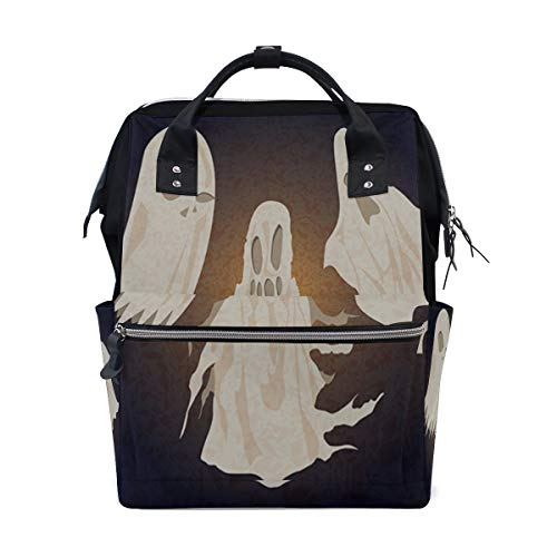 Happy Halloween Spirit Ghost Large Capacity Diaper Bags Mummy Backpack Multi Functions Nappy Nursing Bag Tote Handbag for Children Baby Care Travel Daily -