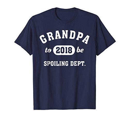 Mens Grandpa-To-Be 2018 Spoiling Dept. T-Shirt -