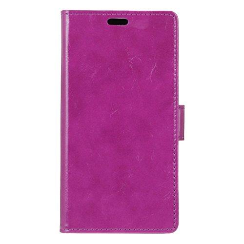 Lusee PU Caso de cuero sintético Funda para Samsung Galaxy Note 8 SM-N950F 6.32 Pulgada Cubierta con funda de silicona botón caballo Loco patrón negro caballo Loco patrón púrpura