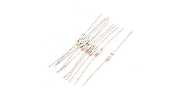eDealMax 10pcs 150 centígrados Circuito Cut Off Temperatura térmica fusibles de CA 250V 2A - - Amazon.com