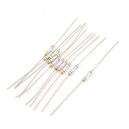 eDealMax 10pcs 150 centígrados Circuito Cut Off Temperatura térmica fusibles de CA 250V 2A