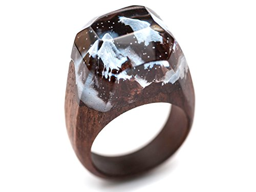 Wonder Woman Baby Costume Uk (Mountain River designer wood ring with jewelry resin. Wooden crafts handmade rings and set jewelry for women and men by Green Wood. (7.5))