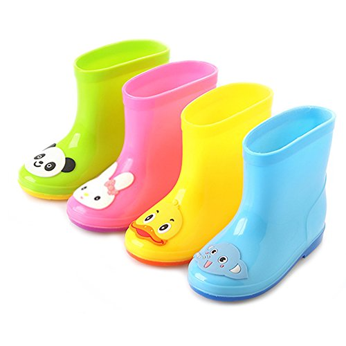 Mädchen Kinder Regen Stiefel Lovely Tier Stiefel Rosa