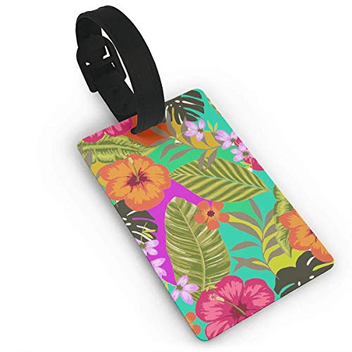 - Travelling Luggage Tag Bright Color Flowers Popular ID Tags Business Card Holder